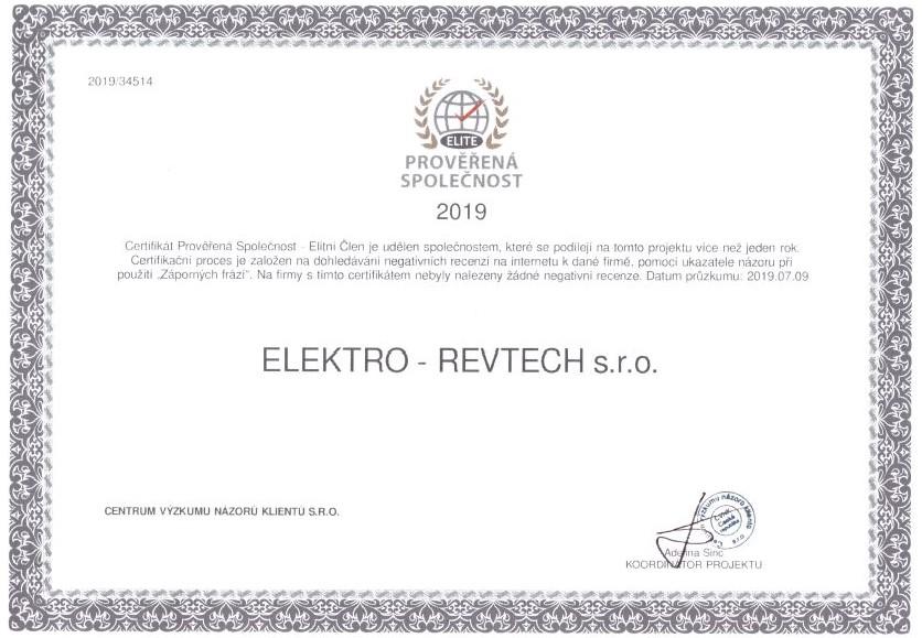 certifikát revize